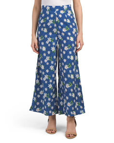 Juniors Polka Dot Floral Pants