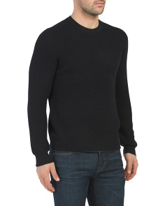 Cashmere Thermal Crew Neck Sweater