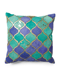 Made In India 20x20 Trellis Haircalf Pillow