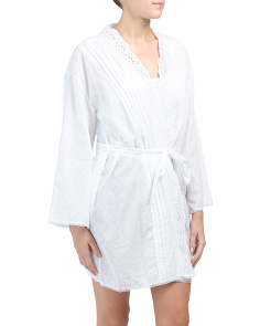 All Over Swiss Dot Lace Robe