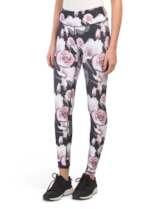 Delicate Floral Printed Leggings