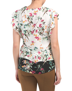 42b92323e1 ... Twin Print Short Sleeve Floral Top
