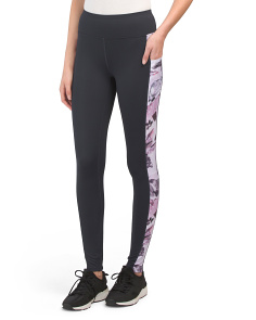 Floral Printed Leggings With Side Pockets