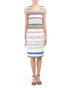 Printed Sheath Dress
