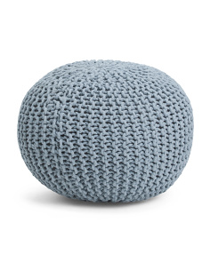 Made In India Majestic Knit Pouf