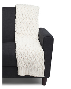 Rustic Woven Knit Throw