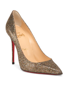 Made In Italy Decolette Glitter Pumps