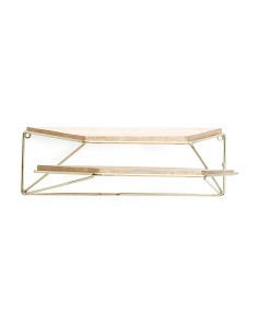 Made In India Iron & Wood Wall Shelf