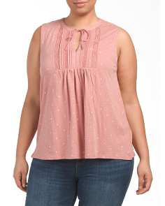 Plus Sleeveless Lace Top