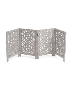 Made In India Carved Wood Pet Gate