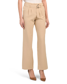 Juniors Belted Tie Waist Trousers