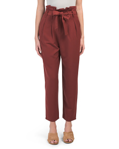 Juniors Paperbag Tie Waist Trousers