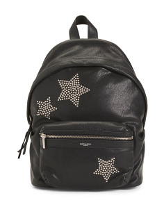 Made In Italy Leather City Stars Backpack