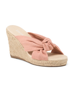 Knotted Wedge Espadrilles