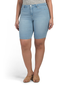 Plus Denim Bermuda Shorts