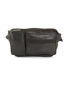 Leather Belt Bag With Cell Pocket