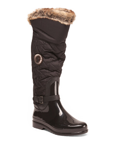 Faux Fur Trimmed Waterproof Boots