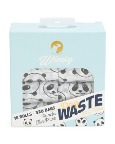 16 Roll Whimsy Panda Waste Bags