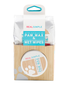 50 Count Wet Wipe And Paw Wax Set