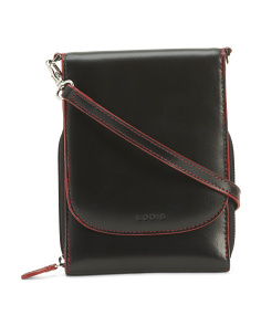 Audrey Rfid Reece Leather Crossbody