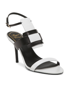Made In Italy Leather Buckle Sandals