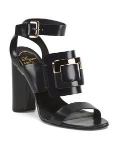Made In Italy Leather Heeled Sandals