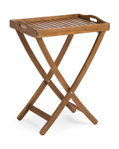Outdoor Acacia Tray Table