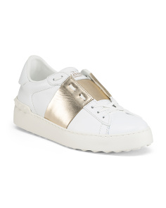 Made In Italy Rockstud Leather Sneakers