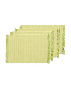 Made In India 4pk Fringe Placemats