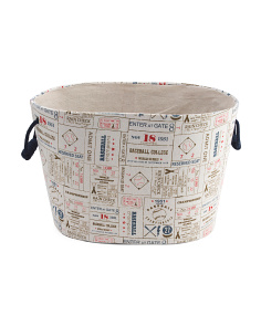 Vintage Sports Kids Storage Basket