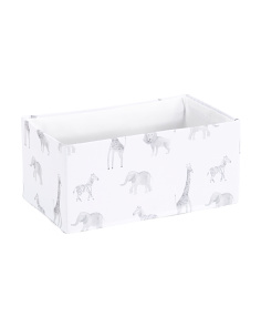 Kids Zoo Animals Shelf Storage Bin