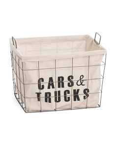 Medium Metal Cars And Trucks Storage Basket