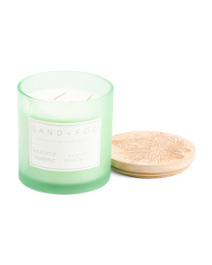 25oz Eucalyptus Spearmint Carved Lid Candle
