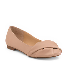 Slip-on Knotted Ballet Flats