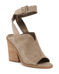 Suede Peep Toe Covered Sandals