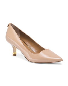 Patent Pointed Toe Low Heel Pumps
