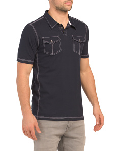 Short Sleeve Polo With Pockets