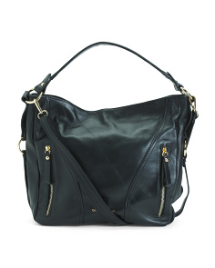 Made In Italy Rosanna Leather Hobo