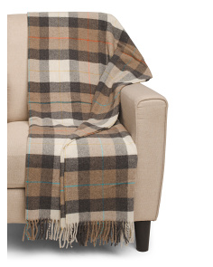 Made In Italy Squared Wool Blend Throw