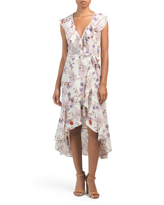 Floral Ruffle Hi-lo Midi Dress