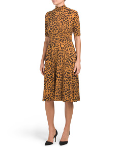 Animal Printed Jersey Dress