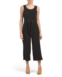 Sleeveless Jumpsuit With Grommets
