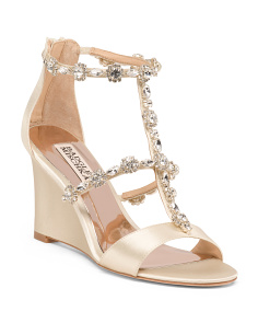 Embellished Wedged Sandals