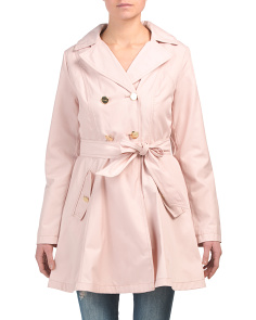 Double Breasted Fit And Flare Trench Coat