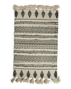 Made In India 24x36 Textured Scatter Rug