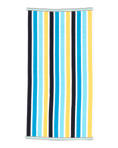 Velvour Striped Beach Towel