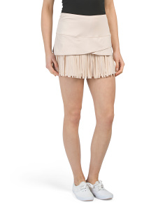 Fringe & Scallop Hem Tennis Skirt