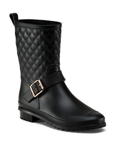Quilted Mid Shaft Rain Boots