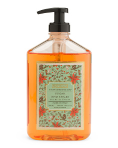 16.9oz Sugar & Spice Poinsettia Liquid Soap