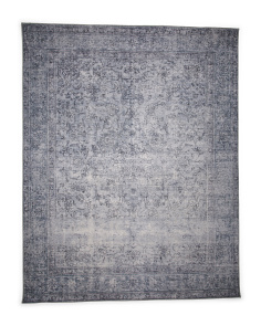 Made In India Vintage Hand Knotted Look Area Rug